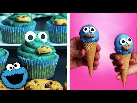 How to Make Cookie Monster Brownies, Cupcakes and Ice Cream Cones   Easy Dessert Ideas by So Yummy