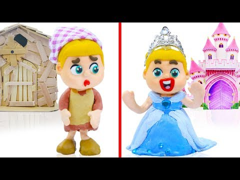 BABY DISNEY PRINCESS MAKEOVER DRESS UP  Animation Cartoons Play Doh