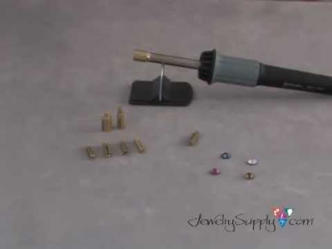 swarovski - http://www.jewelrysupply.com/ Learn how to use our hotfix crystal wand to apply hotfix crystals in this jewelry making video from JewelrySupply.com.