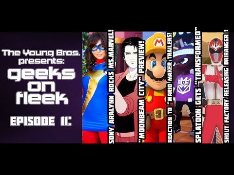 The GEEKS ON FLEEK Podcast Ep. 11 - Amiiqo, Moonbeam City, Super Mario Maker,  Dairanger!
