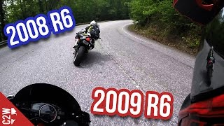 9. 2009 R6 chasing 2008 R6 on Blood Mountain
