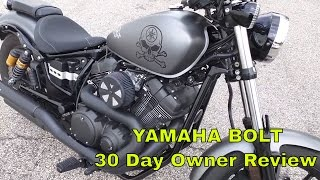 4. Yamaha Star Bolt 30 Day Owner Likes and Dislikes Review