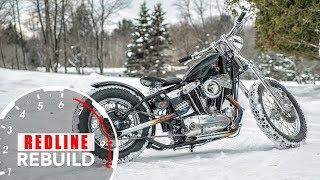 Classic Harley-Davidson motorcycle completely rebuilt in 4 minutes | Redline Rebuild - S1E8