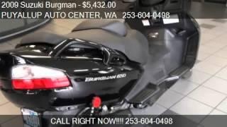 4. 2009 Suzuki Burgman 650 - for sale in PUYALLUP, WA 98371