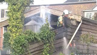Brand in palingrookkast op de Dorpsstraat