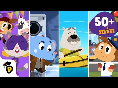Dr. Panda TotoTime | Season 1 | Full Episodes 7,8,9,10 | Kids learning video