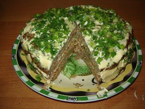 как приготовить торт из печени с фото