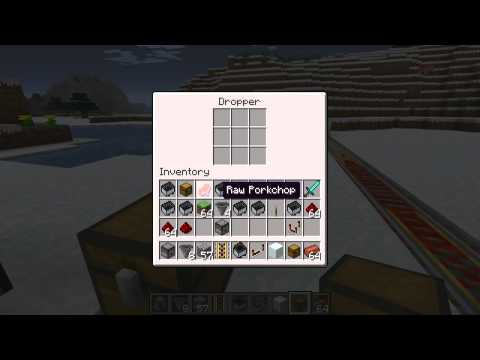 how to use hoppers and droppers in minecraft