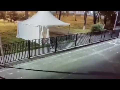 В Подольске подожгли шатер для голосования по поправкам в Конституцию