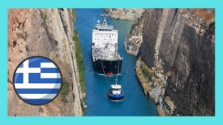 Corinth Greece  city photos : Corinth Canal (GREECE): A ship passing through the Corinth Canal (GREECE)