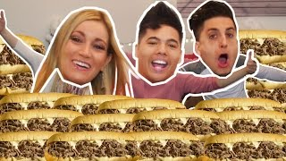 10 FOOT PHILLY CHEESESTEAK In 10 MIN! (Ft. PrankVsPrank)