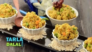 Oats Upma (Fibre-rich Breakfast) by Tarla Dalal