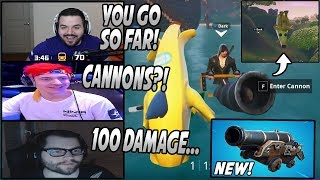Streamers Use The New PIRATE CANNON For The FIRST Time & LOVE It! *OP*