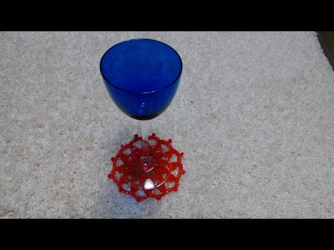 Sottobicchiere Natalizio all'uncinetto  (coaster Christmas crochet hook)