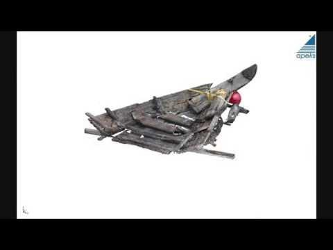 Skanowanie laserowe 3D - Fragment wraku szkuty wiślanej