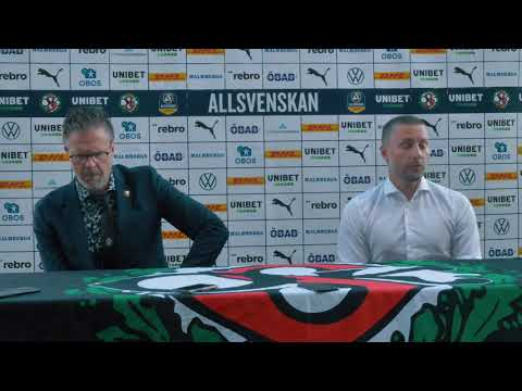 Presskonferens efter ÖSK – AIK