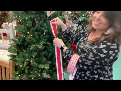 How to add ribbon into your Christmas tree with Anna at Dee's in Louisville