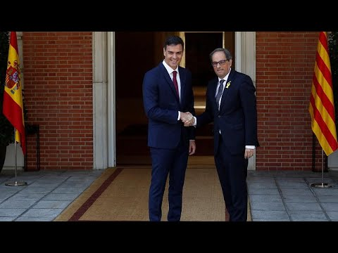 Ministerpräsident Sánchez empfängt erstmals Separat ...