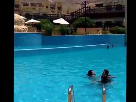 Dead sea Jordan -  Crowne Plaza pool (видео)