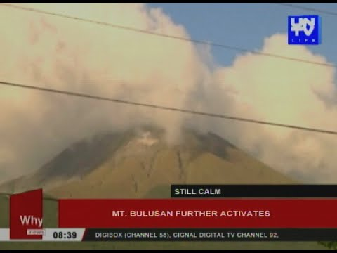 Mt. Bulusan further activates