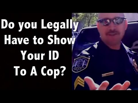 ID - Please help support us and check out all my novels at http://www.lupolit.com Do you legally have to produce an ID if cop ask for it? How can you legally refu...