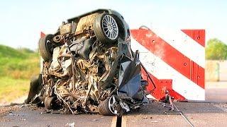 Konkretny crash test z prędkością 200 km/h!