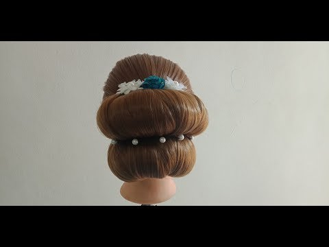 Hairstyles for long hair - 2 Minutes hairstyle for Wedding  easy hairstyle for long hair  updo hairstyle  simple hairstyle