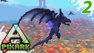 PIXARK (Multiplayer Gameplay) - Pteranodon Tame! - EP02