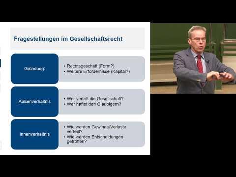 Gesellschaftsrecht: Vorlesung Gesellschaftsrecht 1 -  ...