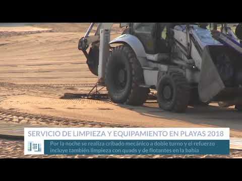 Limpieza y equipamientos en las playas santanderinas 2018