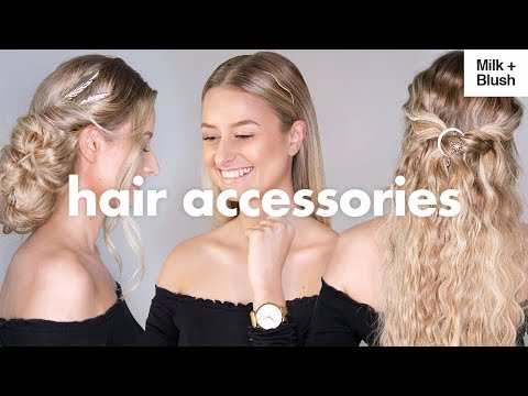 CUTE and EASY Hairstyles With ASOS Hair Accessories  Milk + Blush Hair Extensions