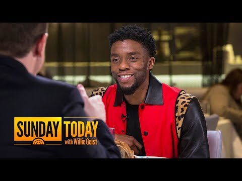 'Black Panther' Star Chadwick Boseman: 'There's A thirst' For Black Superheroes | Sunday TODAY