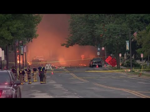 Gas main explosion leads to huge flames in Wisconsin, US