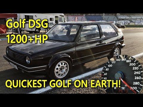 Brutal DSG Golf Mk2 1233HP World Record Video Best Of 2018