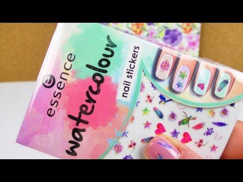 Essence Watercolour NAIL Sticker | Test | Coole Aufkleber für die Fingernägel im Herbst