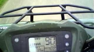 4. Kymco MXU 500 4x4 Speedtest