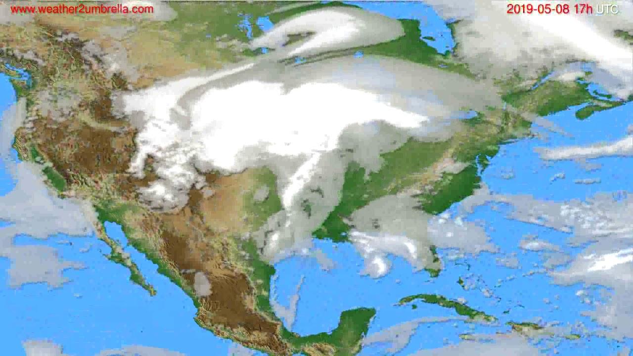 Cloud forecast USA & Canada // modelrun: 00h UTC 2019-05-07