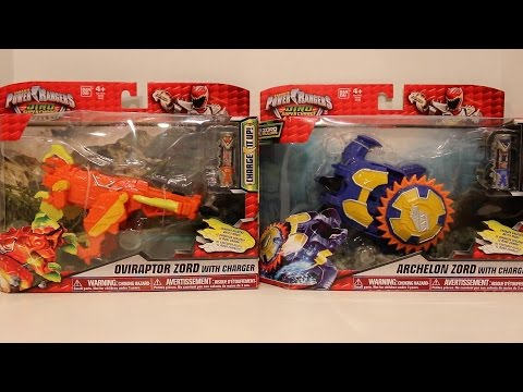 Oviraptor Zord & Archelon Zord Review [Power Rangers Dino Super Charge]