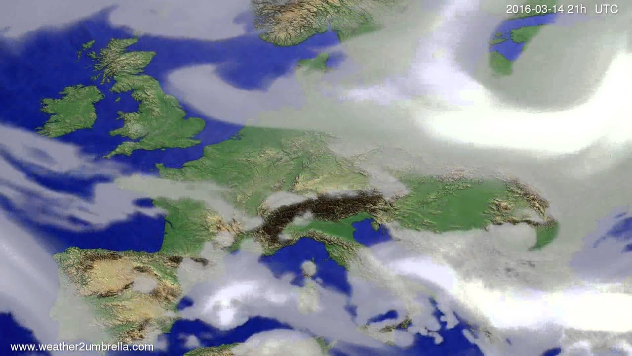 Cloud forecast Europe 2016-03-11