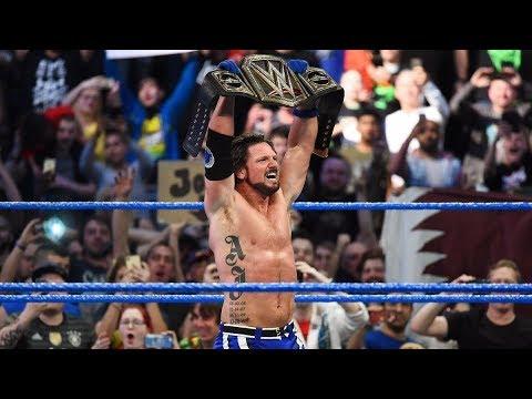 Jinder Mahal Vs AJ Styles - WWE Championship Full Match HD : SmackDown LIVE Nov 7 2017