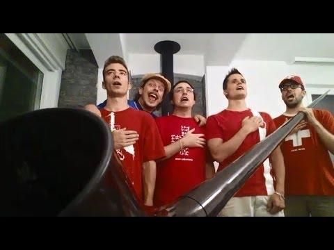 Il Bussenghi fa cantare l'inno italiano agli svizzeri