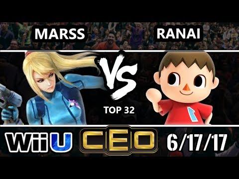 CEO 2017 Smash 4 - Marss (ZSS) vs 2GG | Ranai (Villager) Wii U Top 32