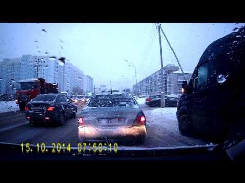 Я свидетель  ДТП, Ханты-Мансийск 16.10.2014 (Запись видеорегистратора)