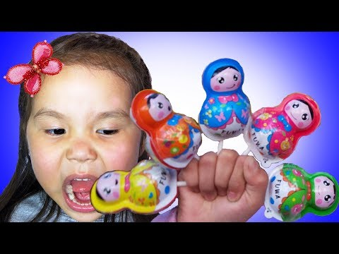 Matreshka Baby Candies Finger Family & Johny Johny Yes Papa