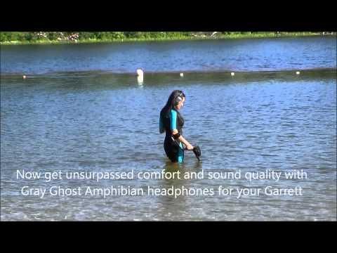 Gray Ghost Amphibian Headphones for Garrett Metal Detectors