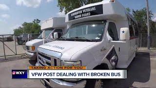 VFW Post dealing with broken bus