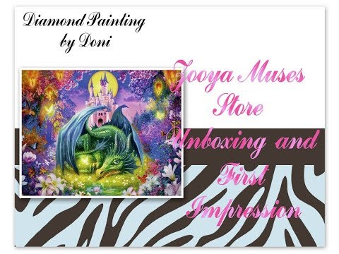 Diamond Painting Unboxing & First Impression - Zooya Muses Store #1 - Cartoon Dragon