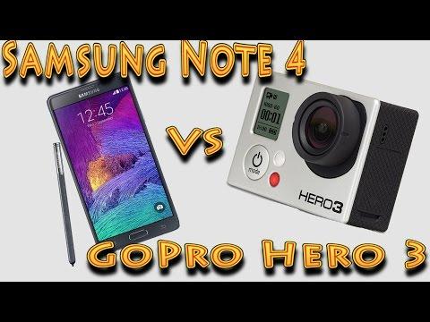 Samsung Galaxy Note 4 vs GoPro Hero 3 Black Review (видео)