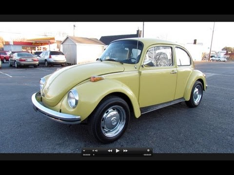 1973 Volkswagen Super Beetle (VW 1303) Start Up, Exhaust, In Depth Review, and Test Drive