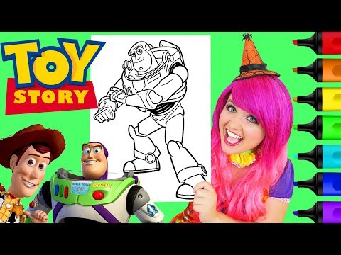 Coloring Buzz Lightyear Toy Story Coloring Page Prismacolor Colored Paint Markers | KiMMi THE CLOWN